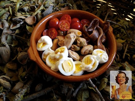 Rustic Chic Tapas huevo de codorniz, tapas frías, tapas rurales, tapas fáciles