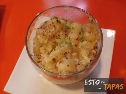 tortilla de patata el cañero, tortilla de patata en vaso, tapas en vaso, tapas zaragoza