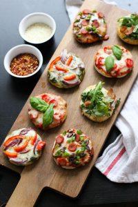 mini pizzas nochevieja, cena informal, picoteo